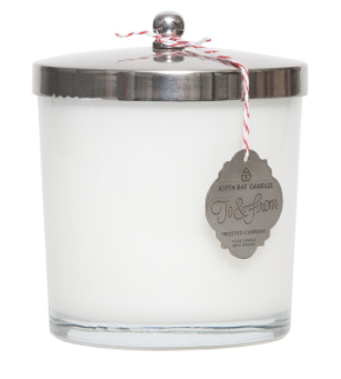Candle -Frosted Currant Glass Jar Candle