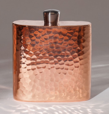 Flask - Grand Hip Hammered Copper Flask