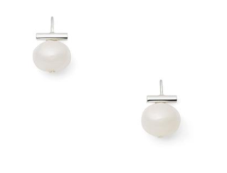 Baby White Pebble Pearl Earrings