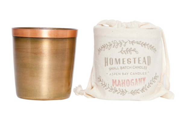 Candle - Brass Cup Candle in Cotton Bag