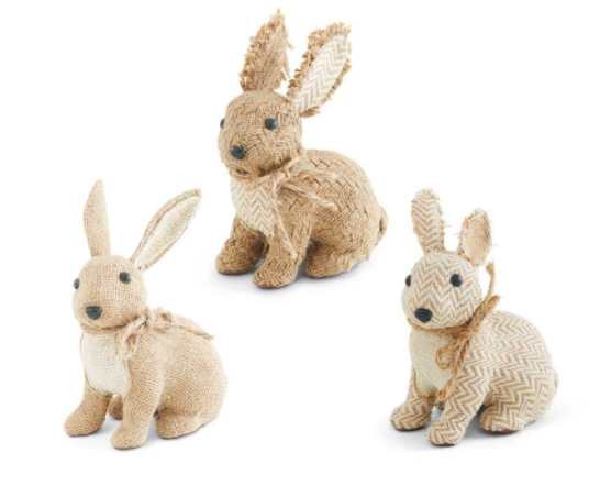 Bunnies - Assorted Burlap/Linen/Twine