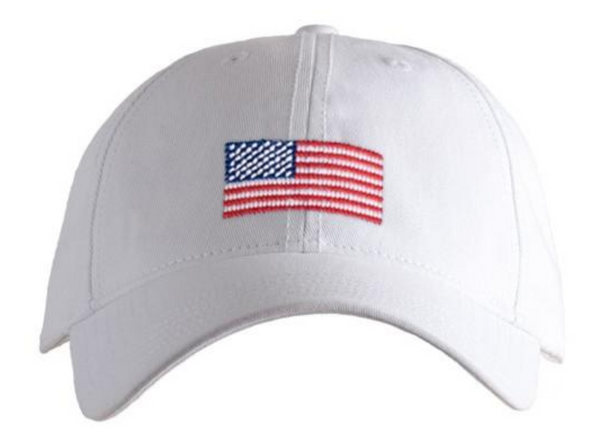 Hat American Flag on White