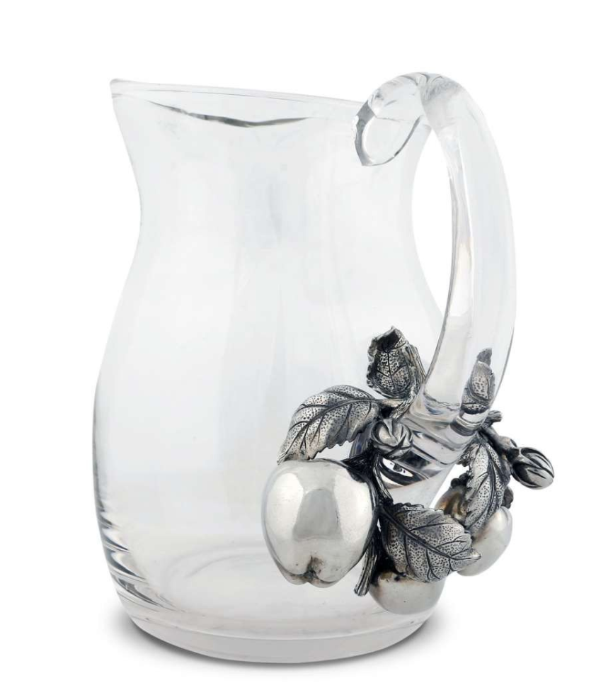 Pitcher Glass w/Apples