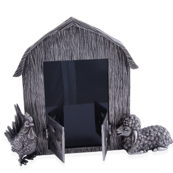 Picture Frame - Pewter McDonald's Barn Animal