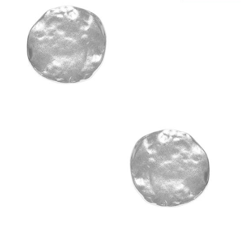 Soho Textured Coin Clip on Earrings