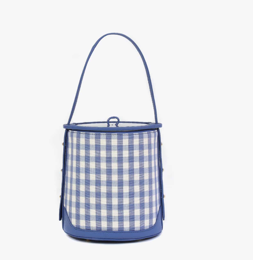 Neely & Chloe Ice Bucket Bag in Gingham