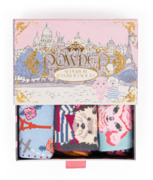 Socks - Parisian Scene Gift Box - Women's