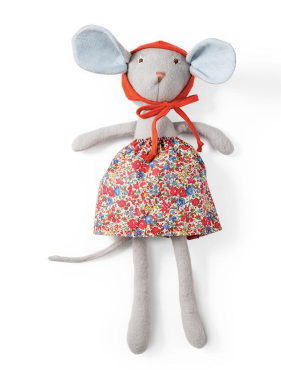 Catalina Mouse in Hedgerow Skirt & Bonnet