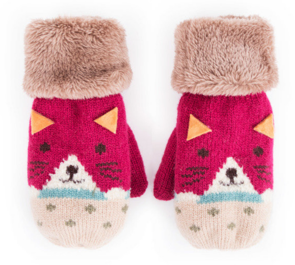 Cosy Kids Cat Mittens
