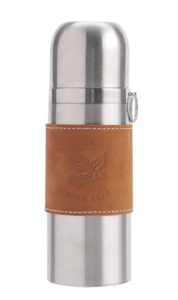Thermos with Leather Sleeve