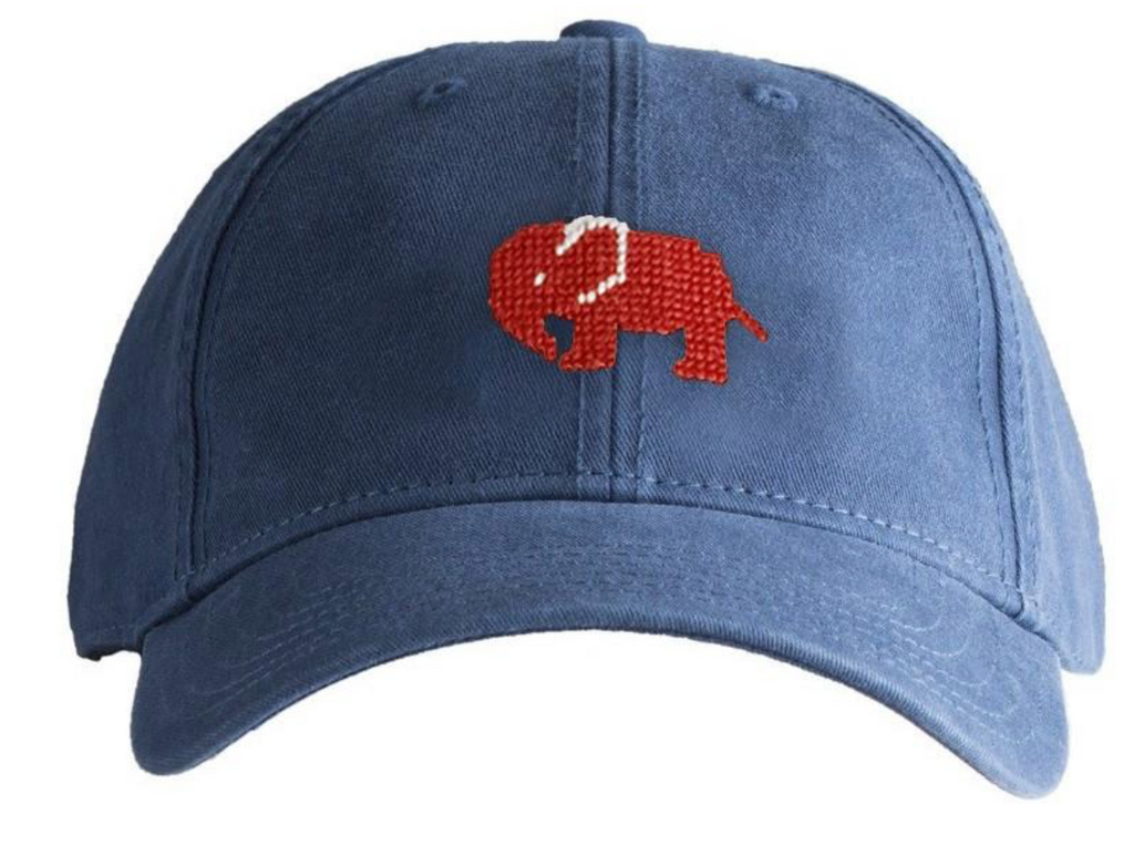 Hat - Red Elephant on Navy