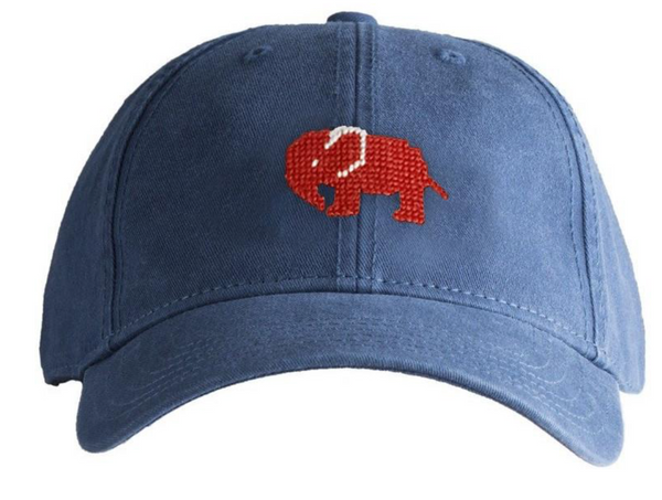 Red Elephant on Navy Hat