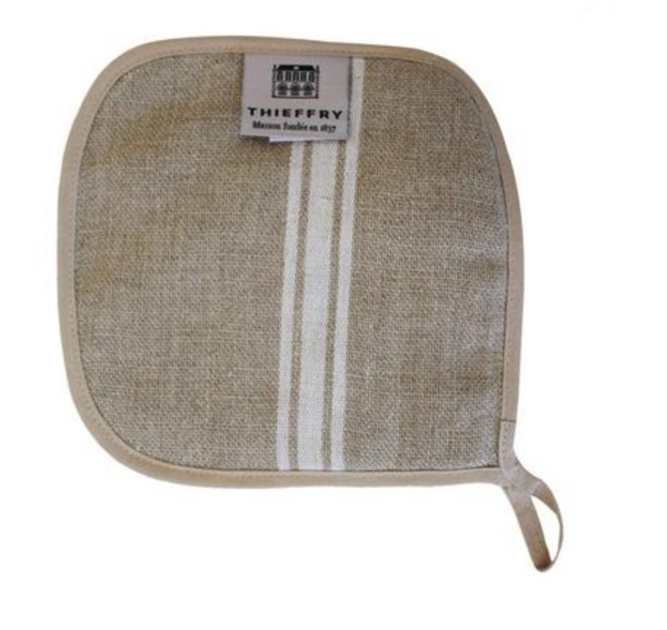 Pot Holder - Linen Thieffry Monogramme