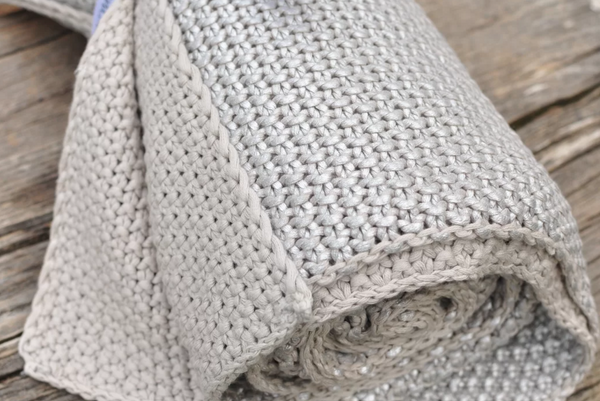 Metallic Silver Throw