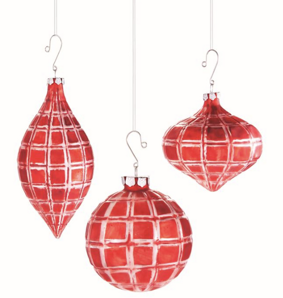 Check Glass Ornaments