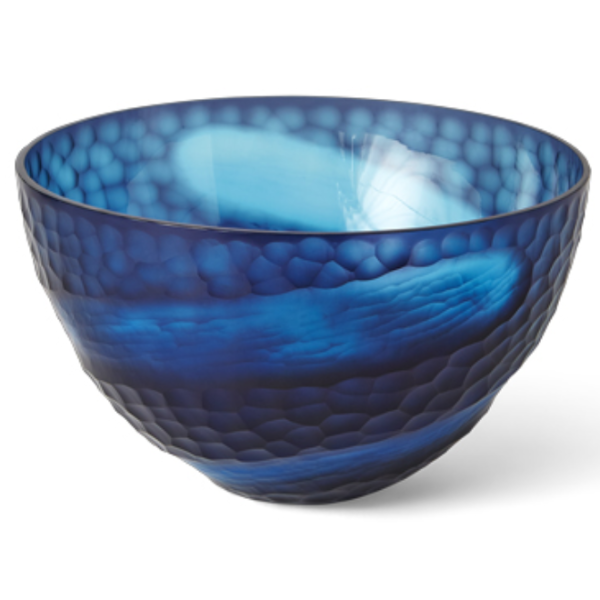 Blue Swoop Bowl