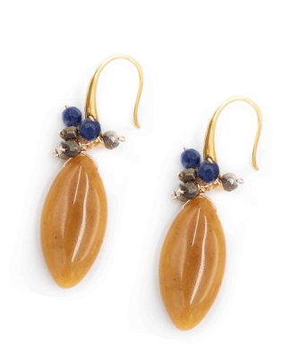 Venice Earrings in Amber Opal
