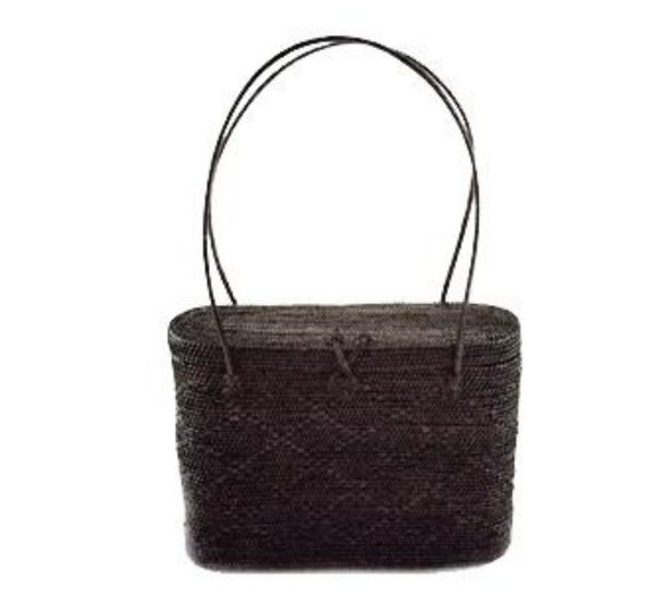 Purse - Peggy Fisher Black Lidded Tote