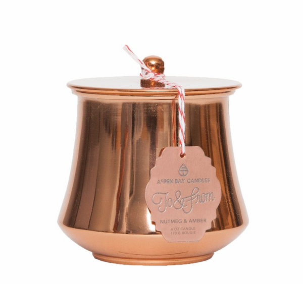 Candle - Copper Metal Tin Candle
