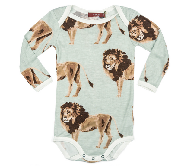 Bamboo One Piece Long Sleeve - Lion
