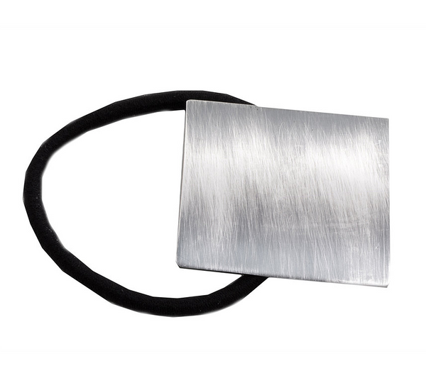 Hair Accessories - Pony Tail Holder Modern Square Metallic