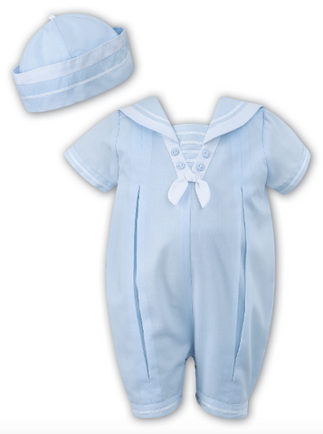 Baby Boy Sailor Suit w/Hat