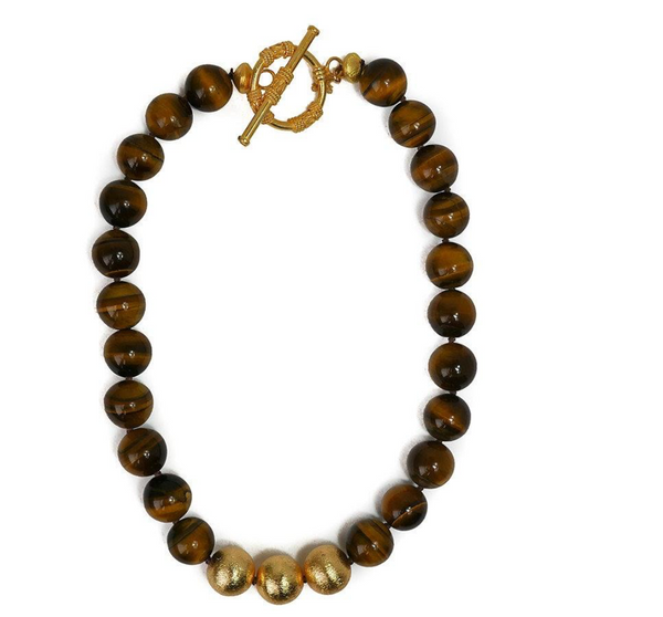 Collier Necklace in Tiger's Eye