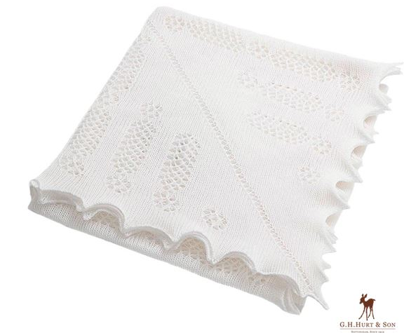Blanket - Nottingham Lace Knitted Baby Shawl