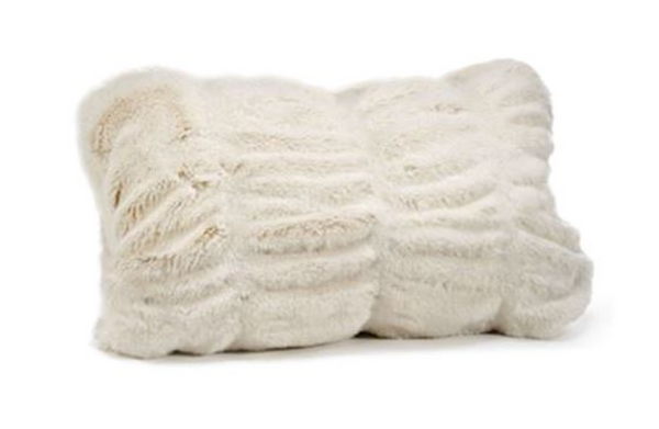 Couture Collection Ivory Faux Fur Pillows