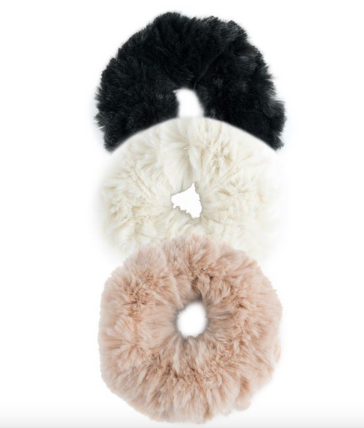 Couture Faux Fur Scrunchies