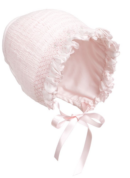 Baby Girls Hand-Smocked Bonnet