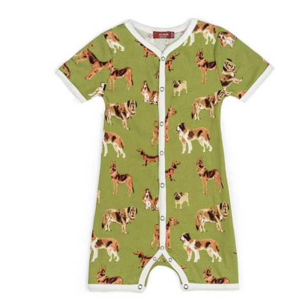 Bamboo Shortall Green Dog