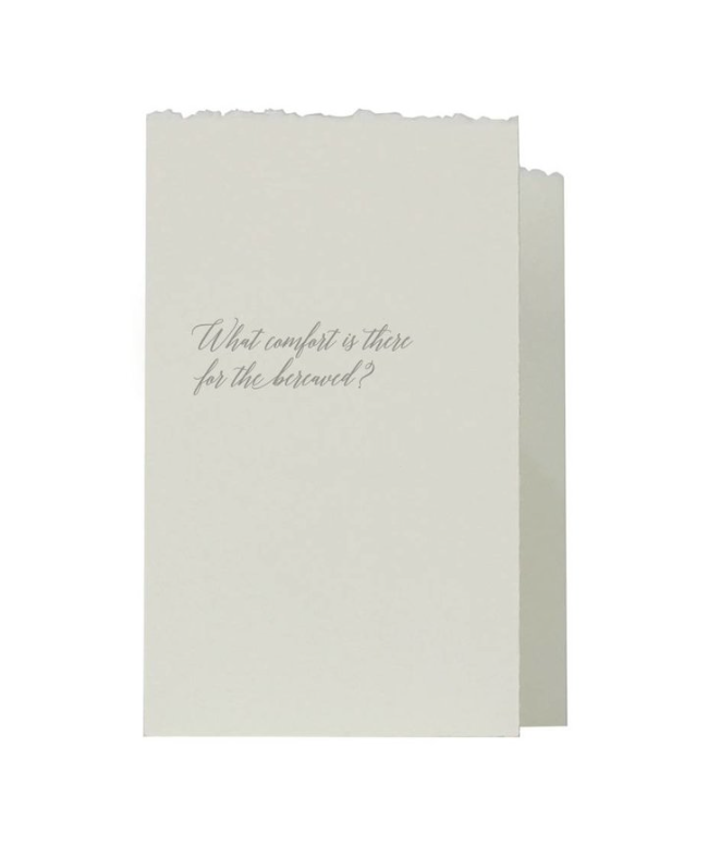 Greeting Cards - What Comfort Is There For The Bereaved?