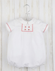 White Bubble w/Red Stitches & Buttons