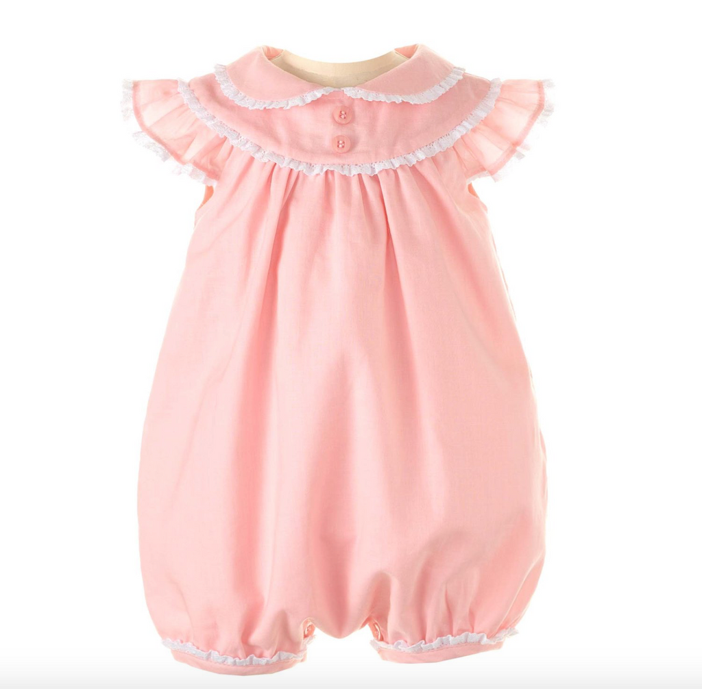 Lace Trim Bubble Babysuit