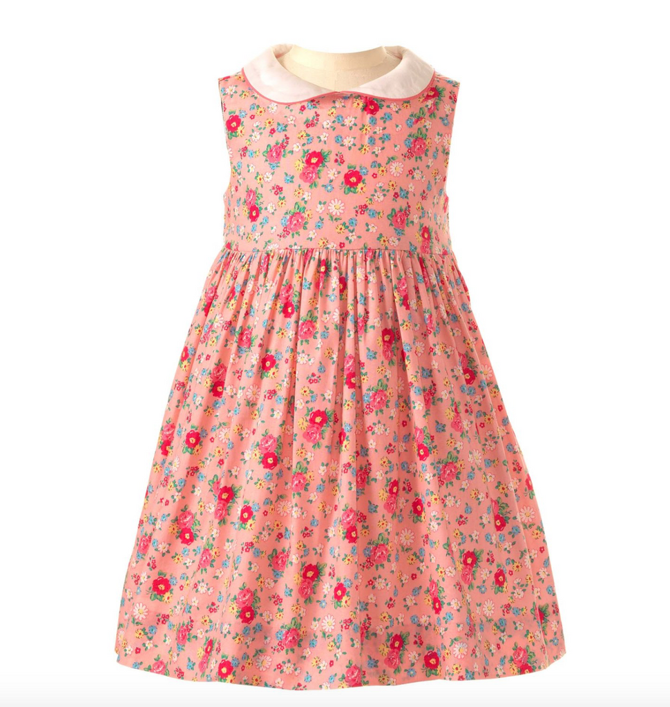 Rose Peter Pan Collar Dress & Bloomers