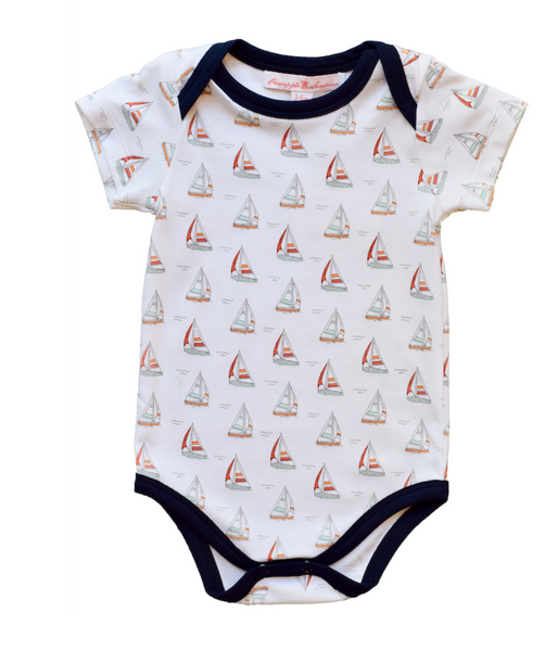 Sailboat Short Sleeve Onesie