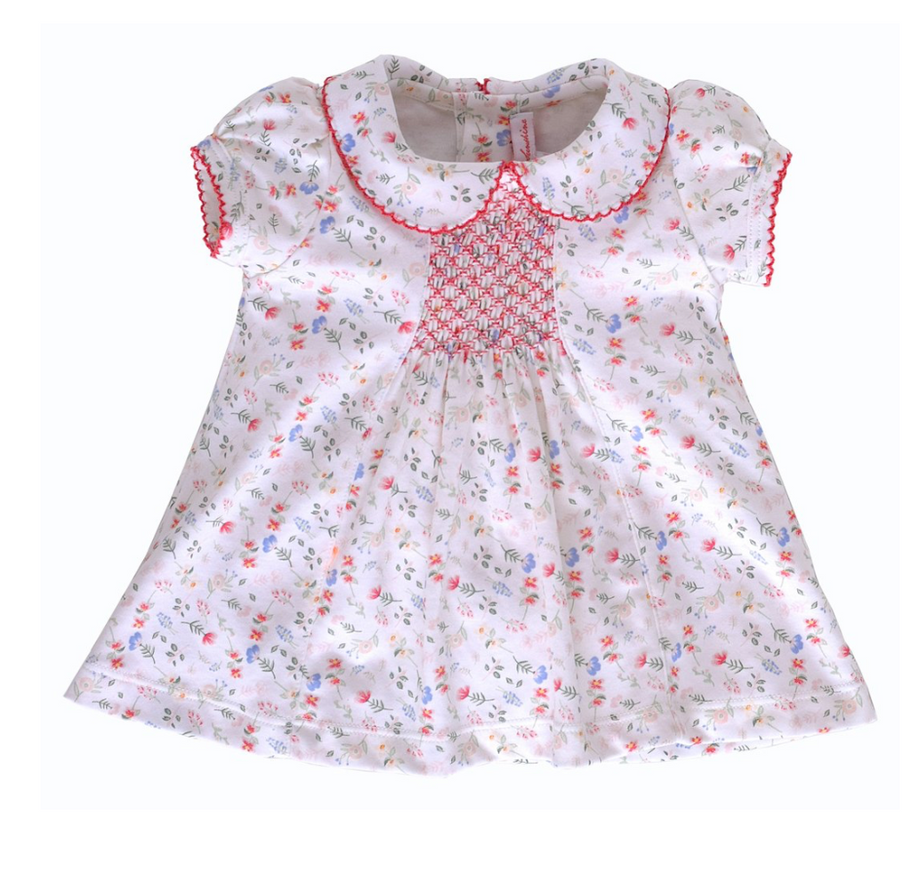 Madison Pink Floral Dress w/Bloomer