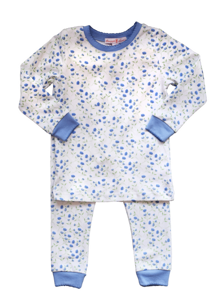 Arabella Blue Floral Pajama Set