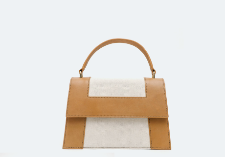 Neely & Chloe - The Graphic Frame Bag in Natural Vachetta