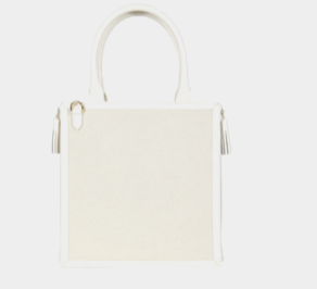 Neely & Chloe - The Monday Tote in White Goat & Canvas