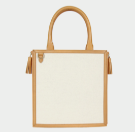 Neely & Chloe - The Monday Tote in Vachetta Leather & Canvas