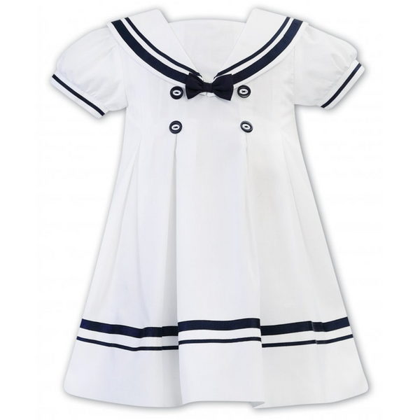White & Navy Sailor Dress