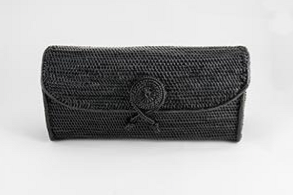 Handwoven Clutch in Black
