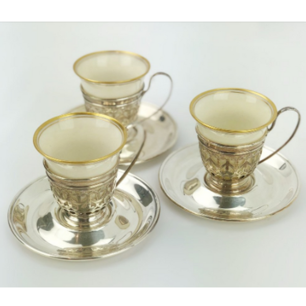 Estate Collection Silver - Demitasse Cups & Saucers Mauser