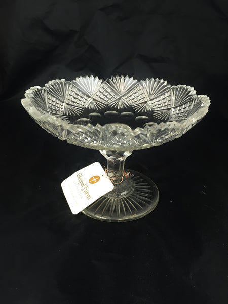 Antique Brilliant Cut Compote
