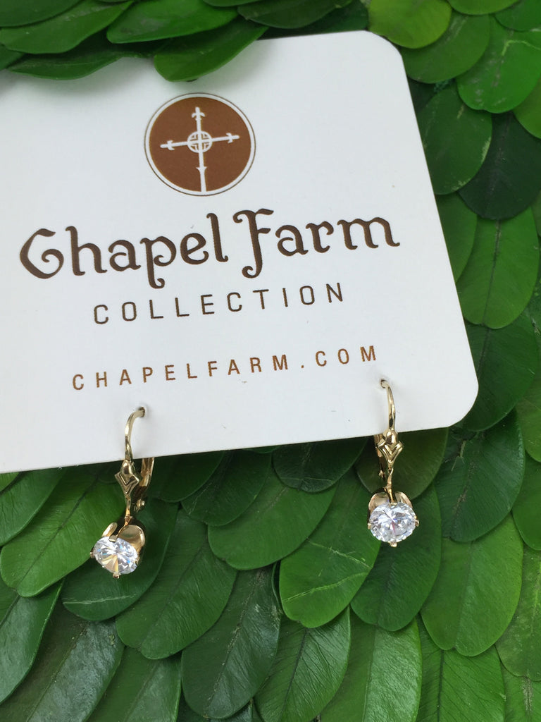 Estate Collection 14K Gold Earrings (CZ's)