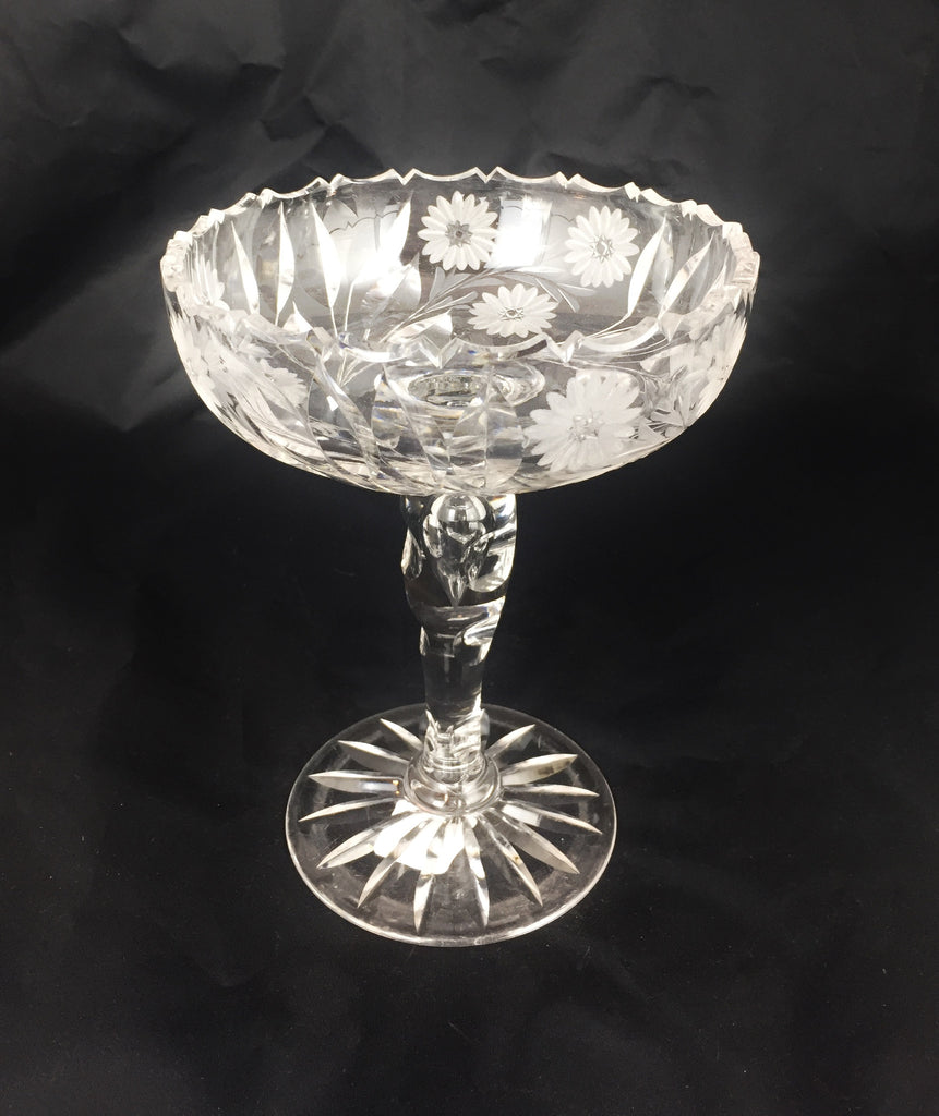 American Brilliant Period Compote