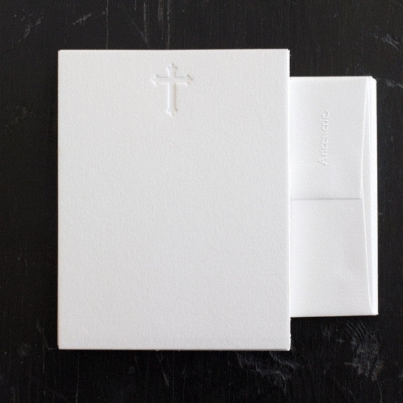 Note Cards - Debossed Cross Note Cards