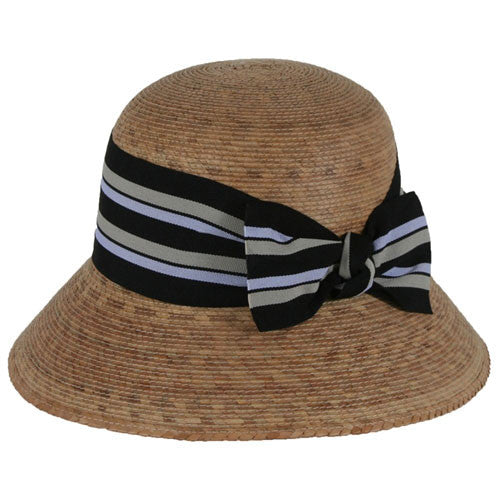 Hat - Ella Multi-Striped Bow Hat